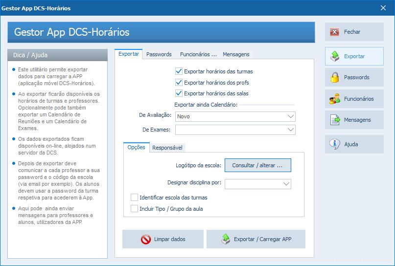 DCS-Horários